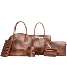 Ericdress Diamond Pattern Embossed Handbags