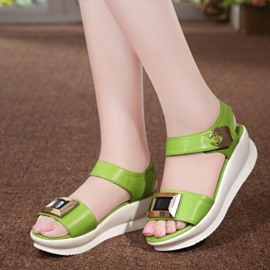 Ericdress Pu Metal Decorated Flat Sandals