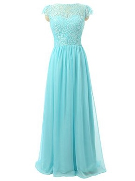 Ericdress Beautiful Cap Sleeves Lace Long Bridesmaid Dress