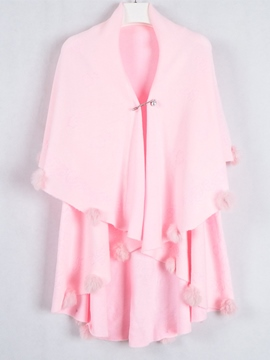 Ericdress Solid Color Sweet Cape