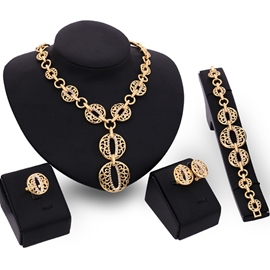 Ericdress Hollow Round Jewelry Set