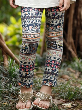 Ericdress Ethnic Print Girls Leggings