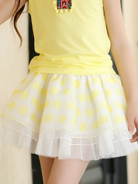 Ericdress Polka Dots Layered Girls Skirt