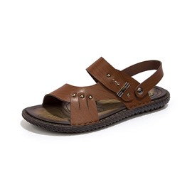 Ericdress Open Toe Flat Heel Buckle Men's Sandals