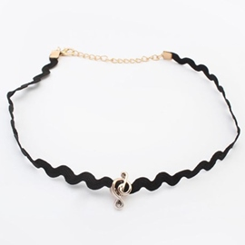Ericdress Vogue Musical Note Choker Necklace