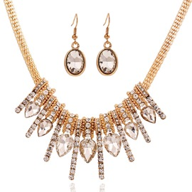 Ericdress Vogue Crystal Diamante Jewelry Set