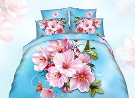 Ericdress Orchid Blossom Print 3D Bedding Sets