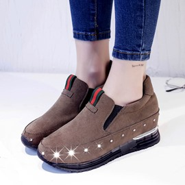 Ericdress Solid Color Rhinestone Casual Shoes