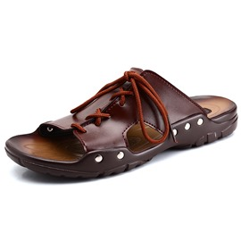 Ericdress Cut Out Lace up Men's Sandals