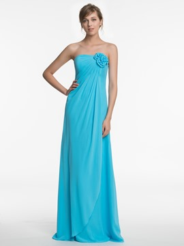 Ericdress Beautiful Strapless A Line Chiffon Bridesmaid Dress