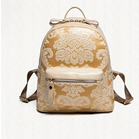 Ericdress Exquisite Vintage Floral Embossed Backpack