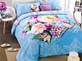Ericdress Exotic Style Peony Print 3D Bedding Sets