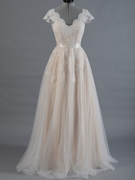 Ericdress High Quality Appliques A Line Wedding Dress