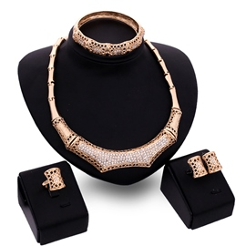 Ericdress Diamante Hollow Geometric Jewelry Sets