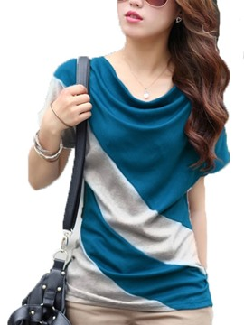 Ericdress Color Block Heap Slim T-Shirt