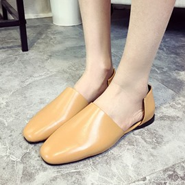 Ericdress Simple Pu Flats