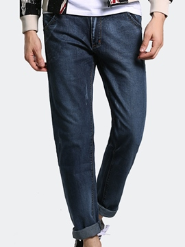 Ericdress Casual Denim Slim Men's Pencil Pants