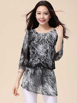 Ericdress Casual Slim Chiffon Blouse