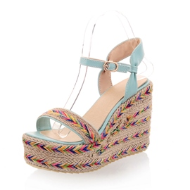 Ericdress Ethnic Knitting Wedge Sandals