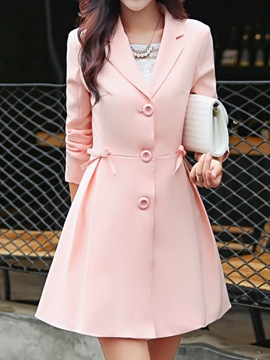 Ericdress Sweet Bowknot Trench Coat