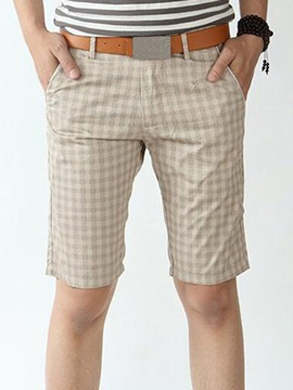 Ericdress Plaid Straight Men's Shorts