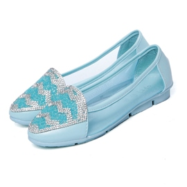 Ericdress Point Toe Rhinestone Flats