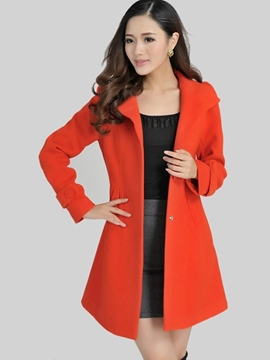 Ericdress Sweet Single-Breasted Coat