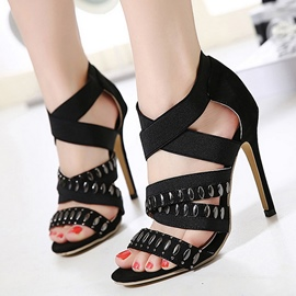 Ericdress Elastic Band Open Toe Stiletto Sandals
