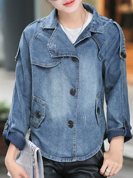 Ericdress Cape Style Denim Jacket