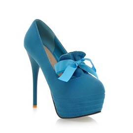 Ericdress Bowknot Stiletto Heel Platform Pumps