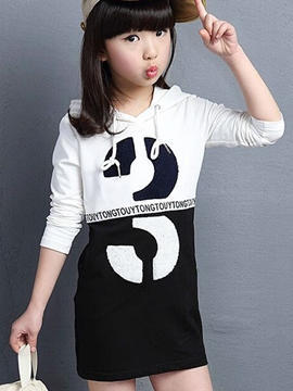 Ericdress Letter Hooded Girls T-Shirt