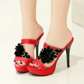 Ericdress PU Applique Slippers