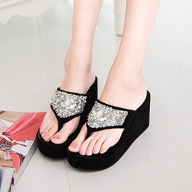 Ericdress Rhinestone Beach Mules Shoes