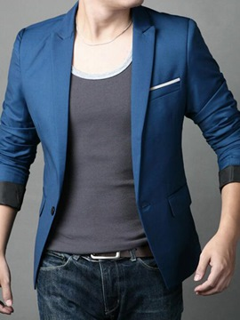 Ericdress Plain Slim Casual Men's Blazer