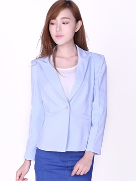 Ericdress Solid Color Simple Blazer