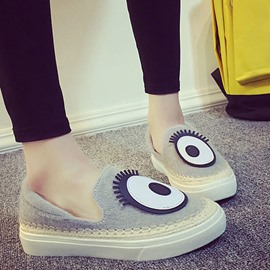 Ericdress Cartoon Eye Flats
