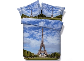 Ericdress Magnificent Paris Tower Print 3D Bedding Sets