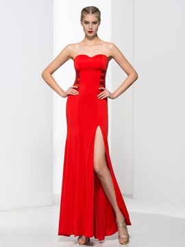 Ericdress Sweetheart Sequins Split-Front Evening Dress