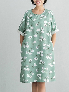 Ericdress Mori Girl Floral Loose Casual Dress