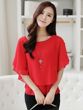 Ericdress Off-Shoulder Batwing Blouse