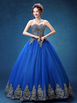 Ericdress Schatz Ballkleid Applikationen bodenlangen Quinceanera Kleid