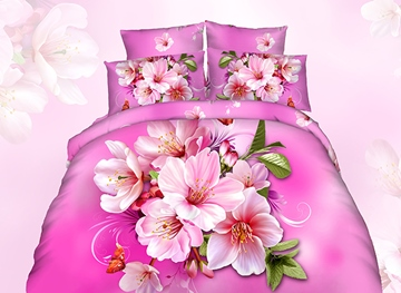 Ericdress Bright Orchid Flower Print 3D Bedding Sets