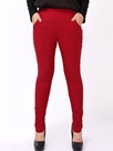 Ericdress Solid Color Pencil Plus Size Leggings Pants