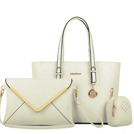 Ericdress All Match Solid Color Commute Tote Bags(3 Bags)