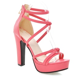 Ericdress Bright Solid Color Chunky Sandals