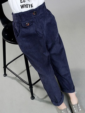 Ericdress Plain Girls Pants