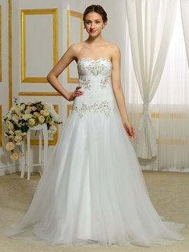Ericdress Elegant Beading Sweetheart A Line Wedding Dress