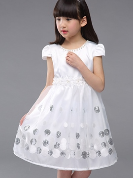 Ericdress Sequins Mesh Girls Dress
