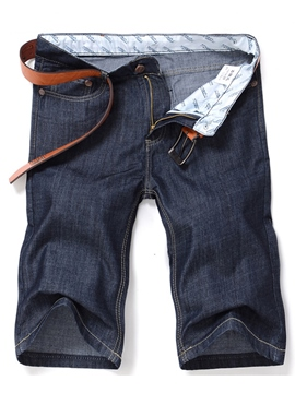 Ericdress Denim Half Leg Casual Men's Shorts