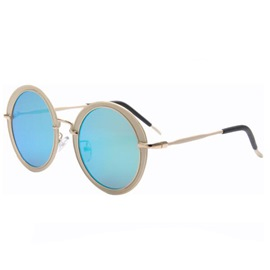 Ericdress Retro Full Frame Iridescent Sunglasses